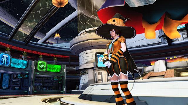 Phantasy Star Online 2 celebrating Halloween