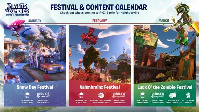 Battle for Neighborville reveals festival calendar for the winter