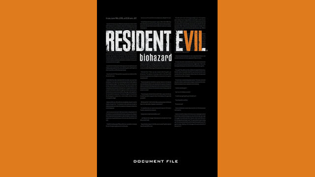 English translation of Resident Evil 7: Biohazard Document File available for pre-order