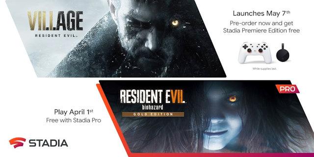 Pre-order Resident Evil Village get Stadia Premiere Edition