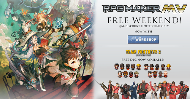 RPG Maker MV free on Steam this weekend