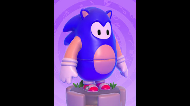 Sonic dropping in on Fall Guys