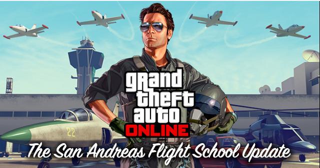 Grand Theft Auto Online sending you to flight school