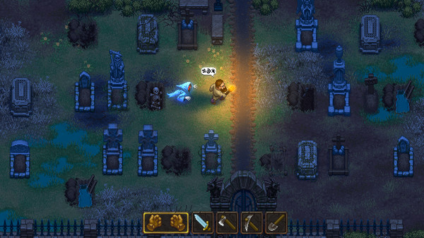 Manage a medieval cemetery in Graveyard Keeper