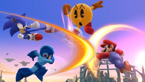 Pac-Man entering the Super Smash Bros. melee