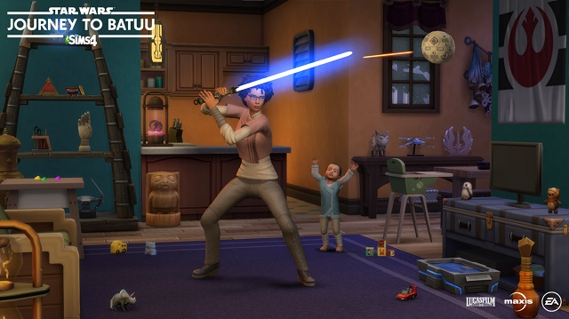 The Sims begin their Journey to Batuu