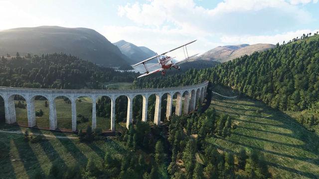 Microsoft Flight Simulator soaring over the UK and Ireland