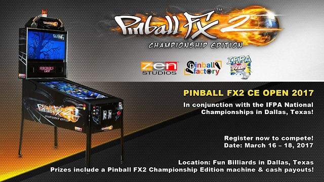Pinball FX2 CE Open 2017 signups open