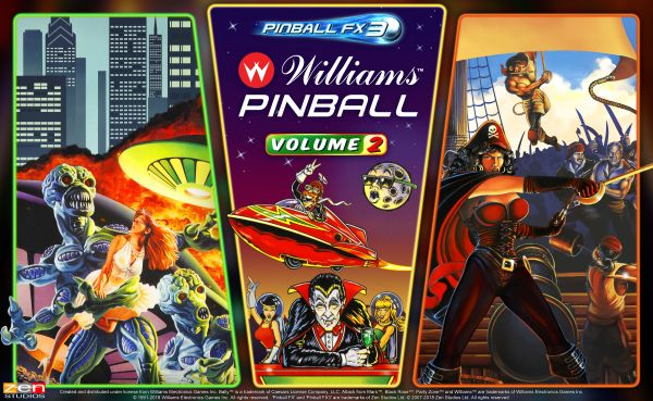 Williams Pinball Volume 2 coming in December