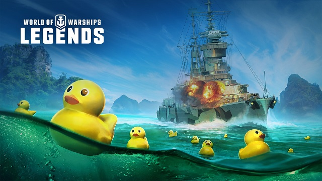 World of Warships: Legends invaded by rubber duckies