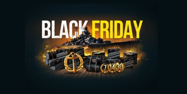World of Warships selling warships on sale on Black Friday