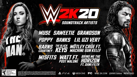 WWE 2K20 soundtrack revealed