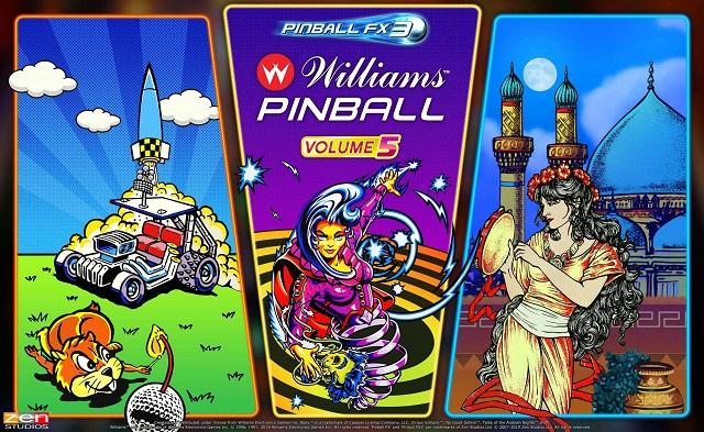 Williams Pinball: Volume 5 coming to Pinball FX3