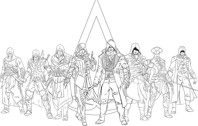 Assassin's Creed: The Official Coloring Book (Book)
